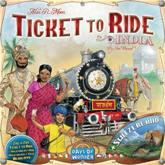 Ticket to Ride - Map Collection Volume 2 - India + Switzerland - In Store Sales Only