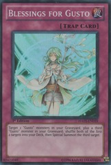 Blessings for Gusto - HA05-EN059 - Super Rare - 1st Edition on Channel Fireball