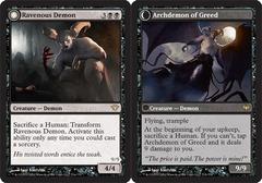 Ravenous Demon // Archdemon of Greed