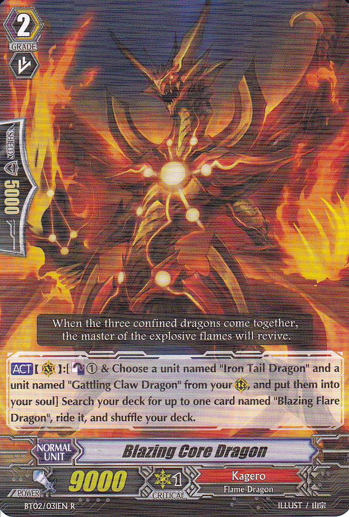 Blazing Core Dragon - BT02/031EN - R