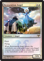 Restoration Angel (Avacyn Restored Release) on Channel Fireball