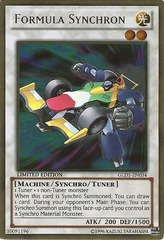 Formula Synchron - GLD5-EN034 - Gold Rare - Limited Edition on Channel Fireball
