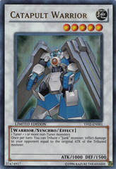 Catapult Warrior - YF02-EN001 - Ultra Rare - Promo Edition