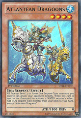 Atlantean Dragoons - SDRE-EN002 - Super Rare - 1st Edition on Channel Fireball