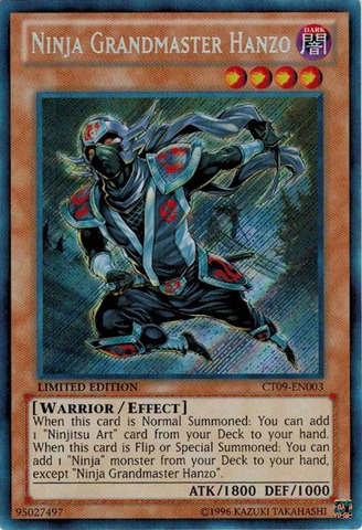 Ninja Grandmaster Hanzo - CT09-EN003 - Secret Rare - Limited Edition