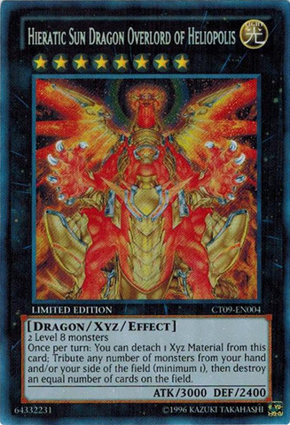 Hieratic Sun Dragon Overlord of Heliopolis - CT09-EN004 - Secret Rare - Limited Edition