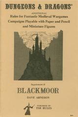 D&D Blackmoor 1st edition
