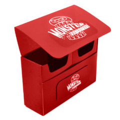 Red Double Matte Deck Box (Monster)