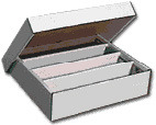 Cardboard Storage Box 4-Row with Lid (4800 cards)