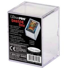 2-Piece 100 Count Slide Clear Card Storage Box