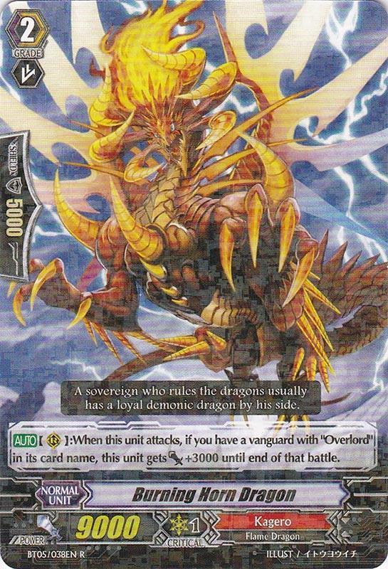 Burning Horn Dragon - BT05/038EN - R