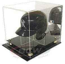 Deluxe Acrylic Baseball Helmet Display - with Mirror