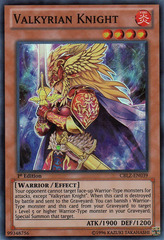 Valkyrian Knight - CBLZ-EN039 - Super Rare - Unlimited Edition