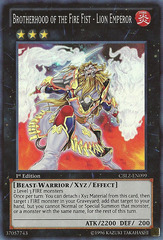 Brotherhood of the Fire Fist - Lion Emperor - CBLZ-EN099 - Super Rare - Unlimited Edition