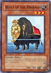 Beast of the Pharaoh - TDGS-EN032 - Common - 1st Edition