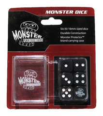Monster Protectors - 6x D6 Monster Dice & Carrying Case - Black