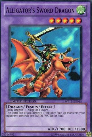Alligator's Sword Dragon - WP11-EN015 - Super Rare - Limited Edition