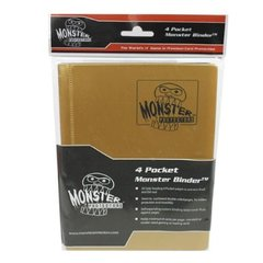 4-Pocket Monster Binder - Matte Gold