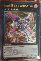 Number C105: Battlin' Boxer Comet Cestus - LTGY-EN052 - Ultimate Rare - 1st