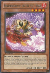 Brotherhood of the Fire Fist - Boar - JOTL-EN026 - Rare - 1st Edition on Channel Fireball