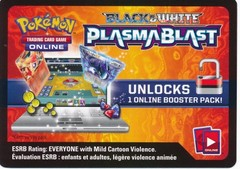 Black & White: Plasma Blast Unused Booster Pack Code (Pokemon TCGO Codes)