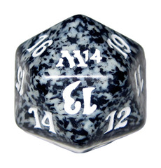 20 Sided Spindown Die - Magic 2014 (Black) on Channel Fireball