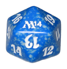 20 Sided Spindown Die - Magic 2014 (Blue) on Channel Fireball