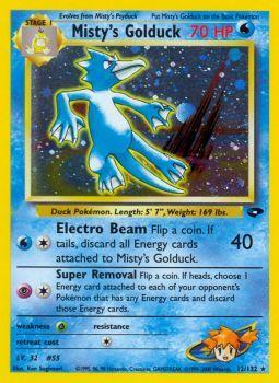 Misty S Golduck 12 132 Holo Rare Unlimited Edition