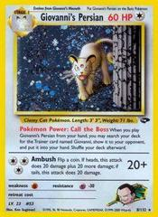 Giovanni's Persian - 8/132 - Holo Rare - Unlimited Edition