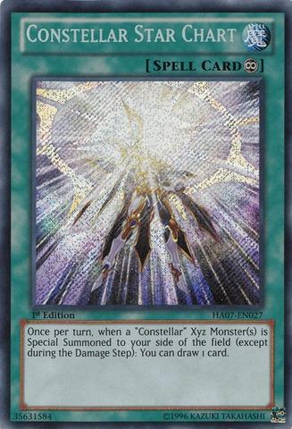 Constellar Star Chart - HA07-EN027 - Secret Rare - Unlimited Edition
