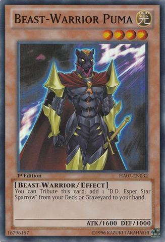 Beast-Warrior Puma - HA07-EN032 - Super Rare - Unlimited Edition