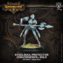 (36012) Convergence of Cyriss:  Steelsoul Protector Solo (White Metal)