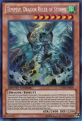 Tempest, Dragon Ruler of Storms - CT10-EN004 - Secret Rare - Limited Edition on Channel Fireball
