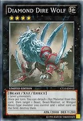 Diamond Dire Wolf - CT10-EN012 - Super Rare - Limited Edition