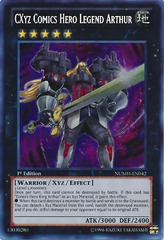 CXyz Comics Hero Legend Arthur - NUMH-EN042 - Secret Rare - Unlimited on Channel Fireball