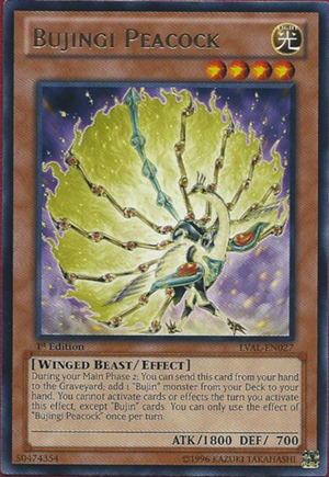 Bujingi Peacock - LVAL-EN027 - Rare - 1st Edition