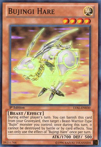 Bujingi Hare - LVAL-EN030 - Super Rare - 1st Edition