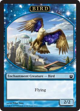 Bird Token - Blue