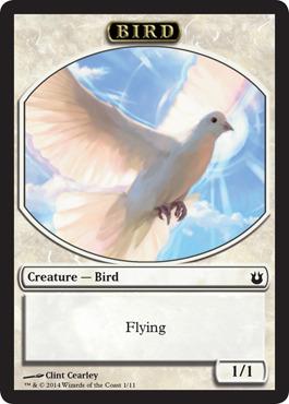 Bird Token - White