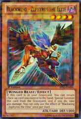 Blackwing - Zephyros the Elite - BP02-EN098 - Mosaic Rare - Unlimited