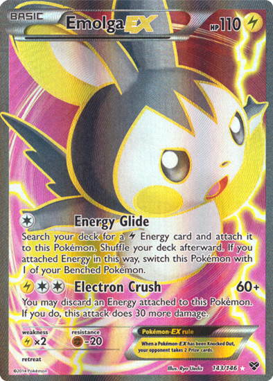 Emolga-EX - 143/146 - Full Art