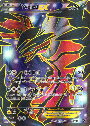Yveltal-EX - 144/146 - Full Art