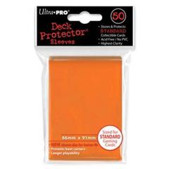 Orange Standard Deck Protectors - 50ct