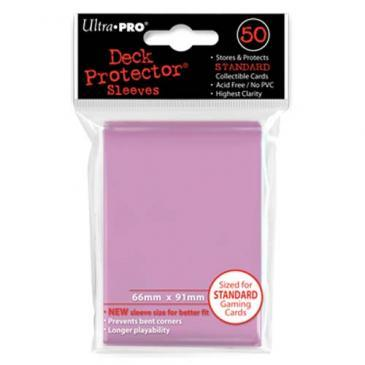 50ct Pink Standard Deck Protectors