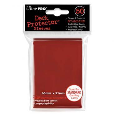 50ct Red Standard Deck Protectors