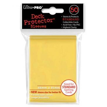 50ct Yellow Standard Deck Protectors