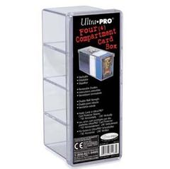 4-Compartment Clear Card Box