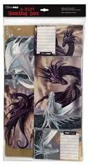 Black & White Dragon Corrugated Storage Box by Ciruelo