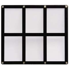 6-Card Black Frame Screwdown Holder