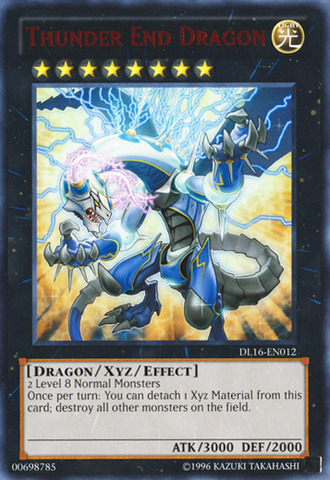 Thunder End Dragon - Red - DL16-EN012 - Rare - Unlimited Edition